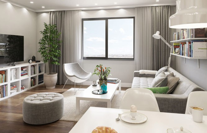 City Residence Apartments - Interior Living Room