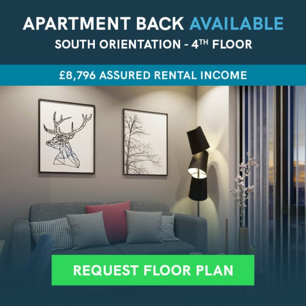 Available apartment with £8796 assured rental return - click to request floor plan