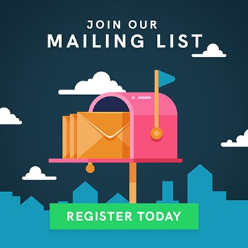 Join the mailing list - click to register today