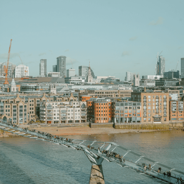 London City and Thames River