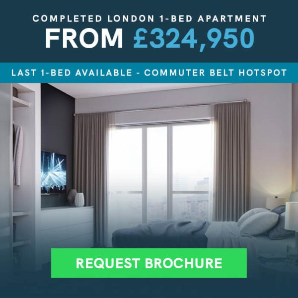 Completed London 1 Bed Apartment From 324,950 - Request Brochure