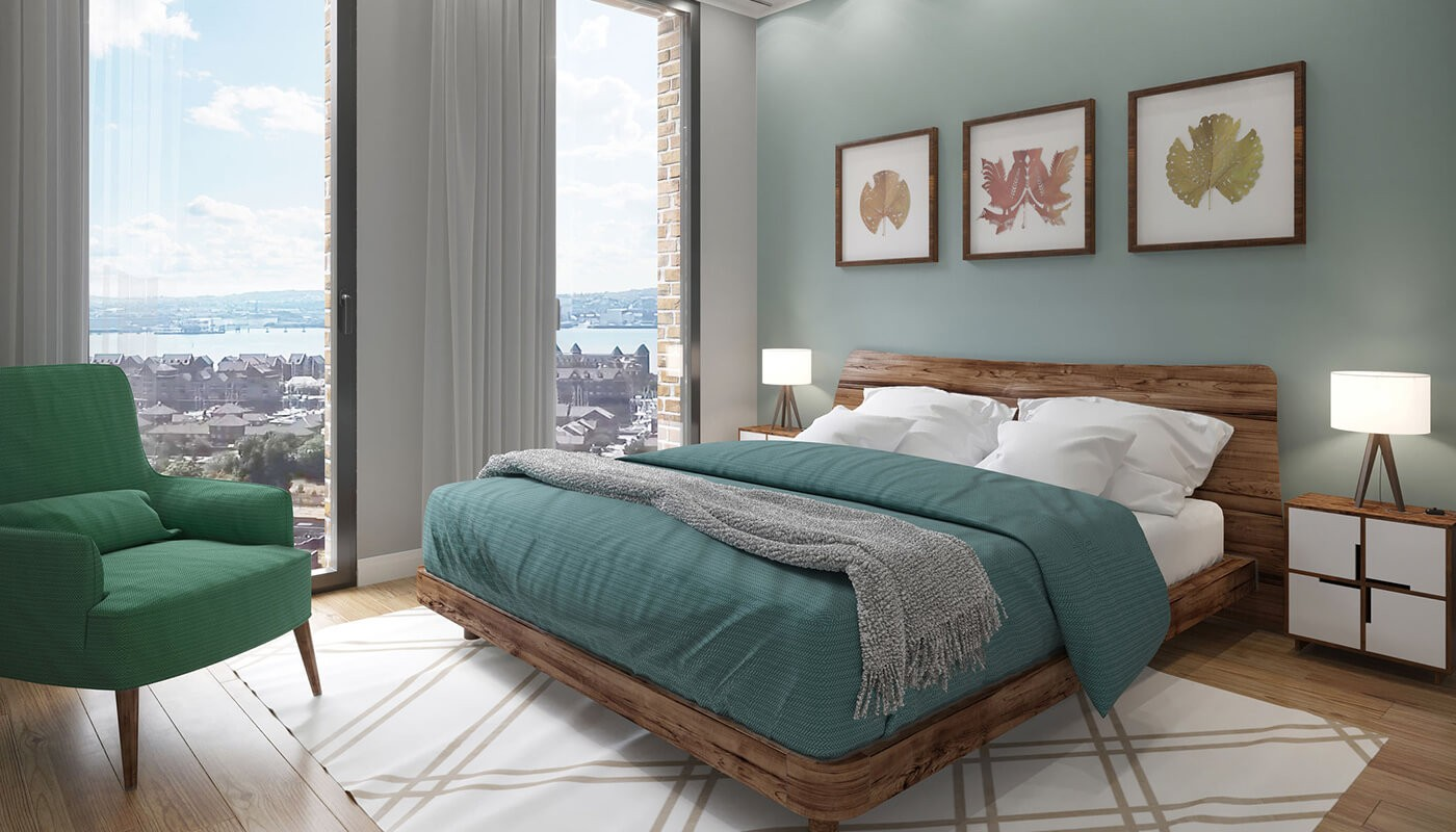 One Baltic Square - Bedroom